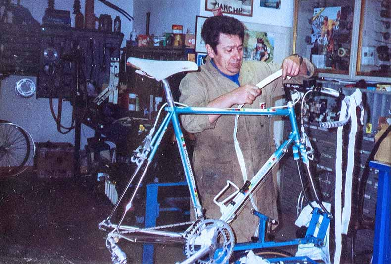Paletti in his workshop