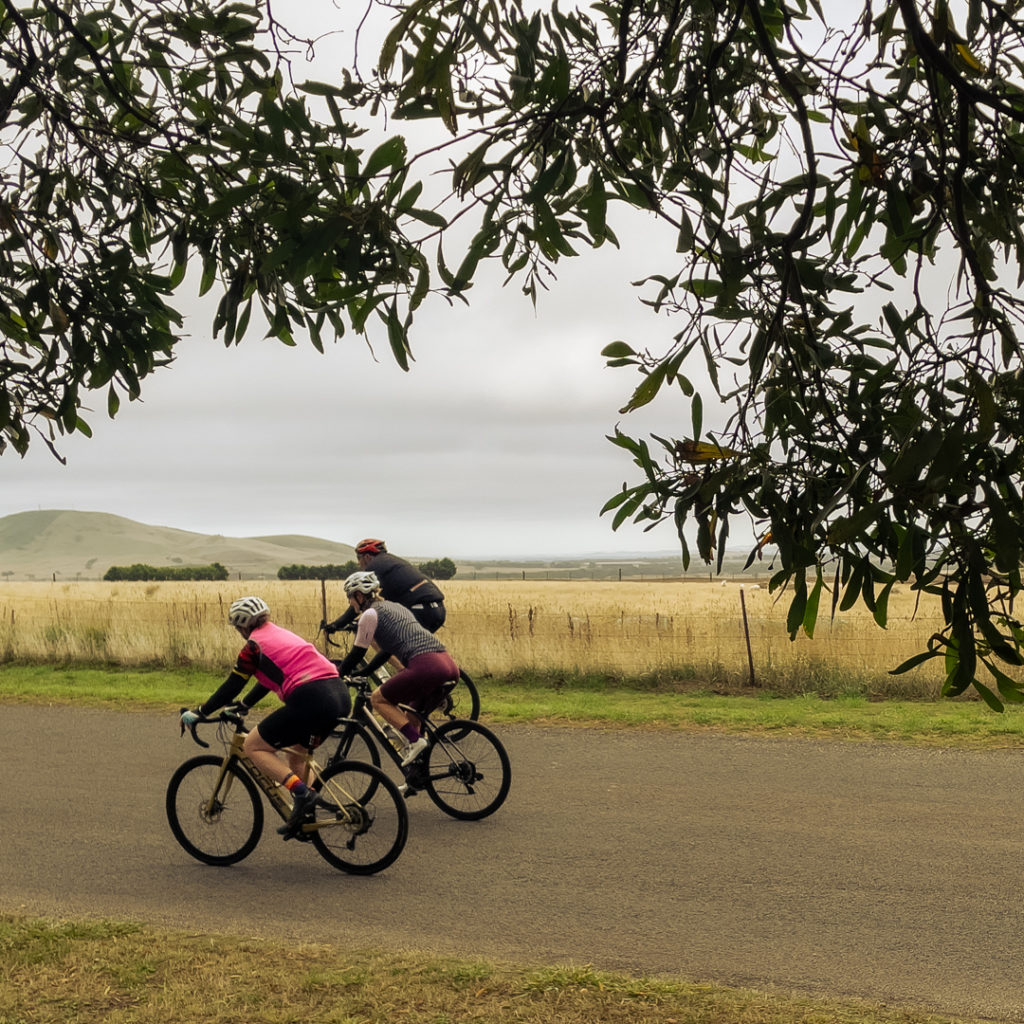 Riding on the quiet country roads of Daylesford