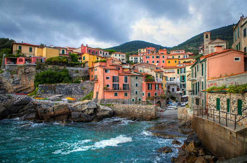 The colourful town of Tellaro in Italy